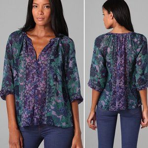 Joie // Gloria Peasant Floral Silk Top